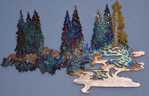 Wall Art decor - TreesWater